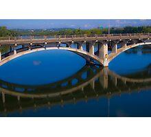 The Lamar Bridge Reflection Photographic Print