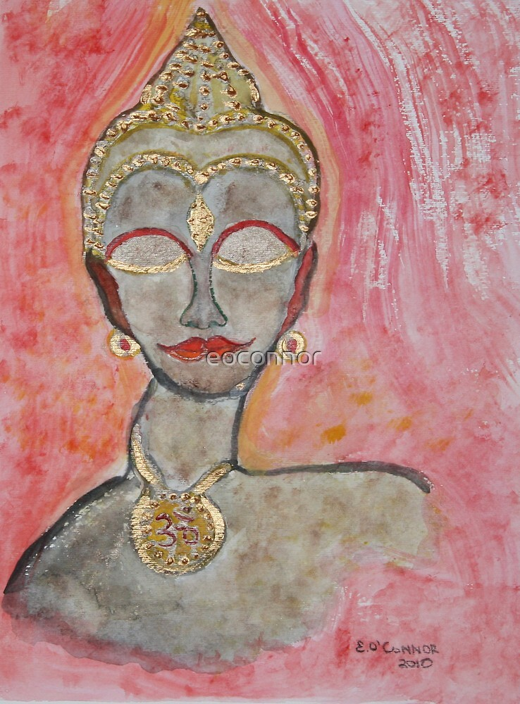 Red and gold  Meditation   ohm! by eoconnor