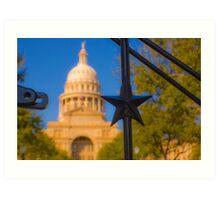The Lone Star Capitol Art Print