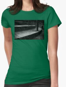 Curved Stairs Womens Fitted T-Shirt