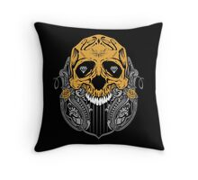 Diamond Skull Throw Pillow