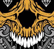 Diamond Skull Sticker