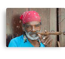 Cigar man  Canvas Print