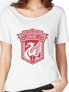 Liverpool FC - Alternate Logo / Badge Women's Relaxed Fit T-Shirt