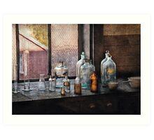 Chemist - Bottles Art Print