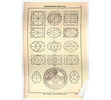 A Handbook Of Ornament With Three Hundred Plates Franz Sales Meyer 1896 0047 Geometrical Motivs Ellipse Subdivision Poster