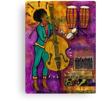 That Sistah on the Bass Canvas Print