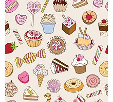 Seamless pattern with sweets Photographic Print