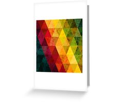 Colorful abstract geometric background with triangular polygons. Greeting Card