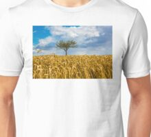 Single tree in a field of Wheat Unisex T-Shirt