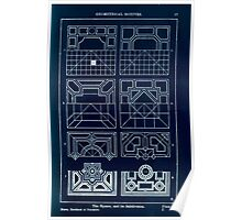 A Handbook Of Ornament With Three Hundred Plates Franz Sales Meyer 1896 0033 Geometrical Elements Square Subdivision Inverted Poster