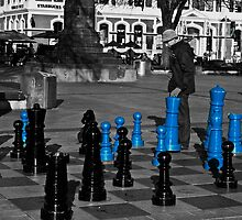Christchurch chess board by Kiwikels