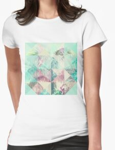 Triangle Palms IV Womens Fitted T-Shirt