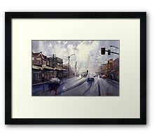 Victoria Road, Gladesville, NSW Framed Print