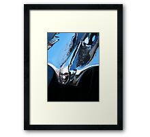 Black Cadillac.... Chrome Thingy Framed Print