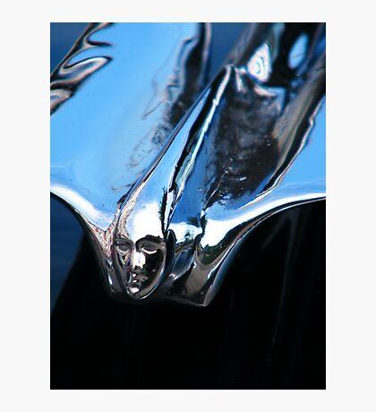 Black Cadillac.... Chrome Thingy Photographic Print