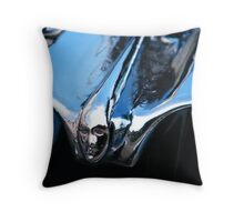 Black Cadillac.... Chrome Thingy Throw Pillow