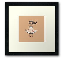 Girl with Ladybug Framed Print