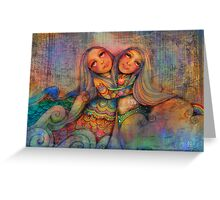 Rainbow Sisters Sky and Sea Greeting Card
