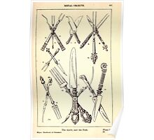 A Handbook Of Ornament With Three Hundred Plates Franz Sales Meyer 1896 0417 Metal Objects Knife Fork Poster
