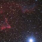 """Ghost of Cassiopeia"" nebula (IC-59, IC63) by Igor Chekalin"