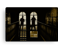 Behind bars Canvas Print