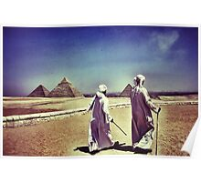 The Pyramids in Cairo Egypt Poster