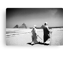 The Pyramids In Cairo Egypt Canvas Print