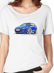 VW Scirocco (Mk3) Blue Women's Relaxed Fit T-Shirt