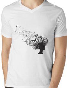 girl face design Mens V-Neck T-Shirt