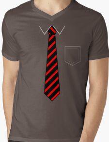 Tie & Pocket Mens V-Neck T-Shirt