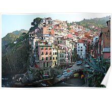 Riomaggorie Harbour-Cinque Terre, Italy Poster