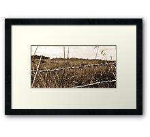 Rustic Wire Framed Print