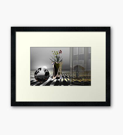 Living in universe Framed Print