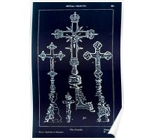 A Handbook Of Ornament With Three Hundred Plates Franz Sales Meyer 1896 0401 Metal Objects Crucifix Inverted Poster