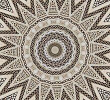 Stone fretwork abstract by rhallam