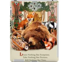 Traveling Nature quote iPad Case/Skin