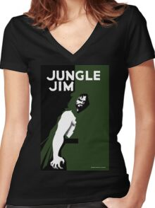 JUNGLE JIM Women's Fitted V-Neck T-Shirt