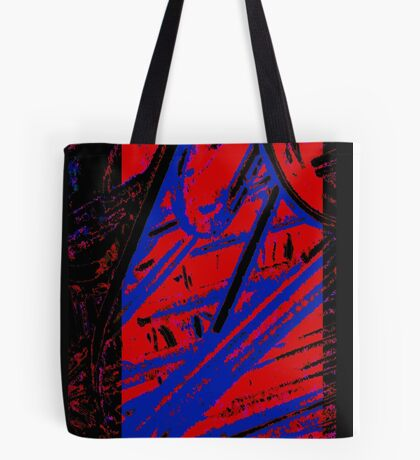 Red and Blue Clips Tote Bag