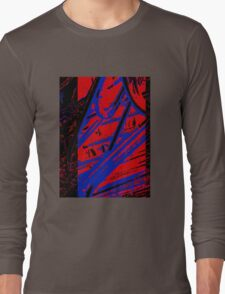 Red and Blue Clips Long Sleeve T-Shirt