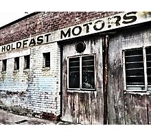 Old Rustic Garage Workshop - Glenelg - Adelaide - South Australia Photographic Print