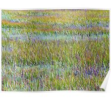 A Sea of Grasses: Waves of Color Poster