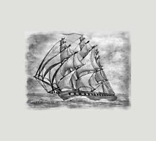 Pencil Drawing (enhanced) of a Clipper Ship based on the Cutty Sark Unisex T-Shirt