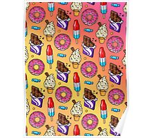 sweet tooth pattern Poster