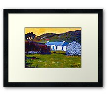 Cottage from Sheep Field Framed Print