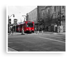 Red Trolley Canvas Print