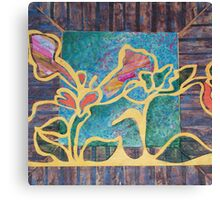 Trumpet Vine on the Shed Canvas Print
