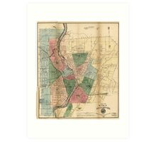 Map of the City of Rochester New York (1879) Art Print