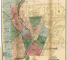Map of the City of Rochester New York (1879) by allhistory