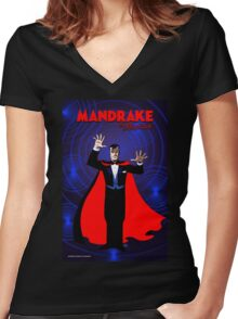 MANDRAKE THE MAGICIAN Women's Fitted V-Neck T-Shirt
